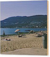photograph of thid beach which is located in Stanley Park Vancouver. Third beach is a popular location for tourists and locals alike. Wood Print