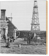 Photographers At Signal Tower Wood Print
