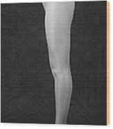 Photography Of Standing Womans Legs Wood Print