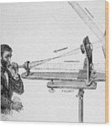 Photophone By Alexander Graham Bell Wood Print