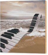 Piano Fantasy Wood Print