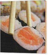 Picking Some Sushi Wood Print