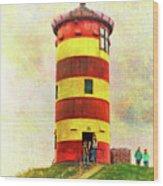 Pilsum Lighthouse Leuchtturm  Wood Print