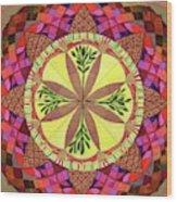 Pine Cone Mandala Wood Print