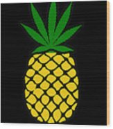 Pineapple Wood Print