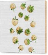 Pineberries Hybrid  Wood Print