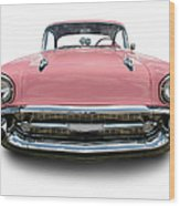 Pink Chevrolet Bel Air 1957 Wood Print