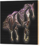 Purple Horse Wood Print