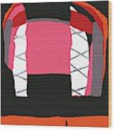 Pink Orange Wood Print