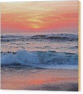 Pink Sunrise Panorama Wood Print