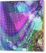 Pink Triangle Fractal Wood Print
