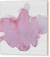 Pink Watercolor Paint Texture Wood Print