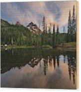 Pinnacle Peak Sunset Reflection Angles Wood Print