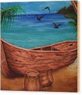 Pirates' Story Wood Print