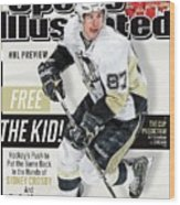 Pittsburgh Penguins Sidney Crosby, 2013-14 Nhl Hockey Sports Illustrated Cover Wood Print