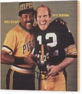 Pittsburgh Pirates Willie Stargell And Pittsburgh Steelers Sports Illustrated Cover Wood Print