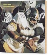 Pittsburgh Steelers Franco Harris, 1974 Afc Championship Sports Illustrated Cover Wood Print