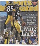Pittsburgh Steelers Nate Washington And Santonio Holmes Sports Illustrated Cover Wood Print