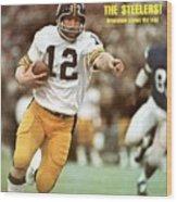 Pittsburgh Steelers Qb Terry Bradshaw, Super Bowl Ix Sports Illustrated Cover Wood Print