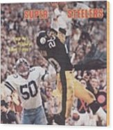 Pittsburgh Steelers Rocky Bleier, Super Bowl Xiii Sports Illustrated Cover Wood Print