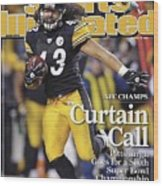 Pittsburgh Steelers Troy Polamalu, 2009 Afc Championship Sports Illustrated Cover Wood Print