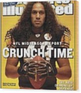 Pittsburgh Steelers Troy Polamalu Sports Illustrated Cover Wood Print