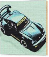 Pixel Porsche Wood Print