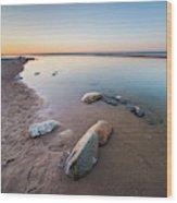 Platte River Square Wood Print