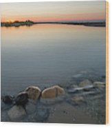 Platte River Sunset 2x1 Panorama Wood Print
