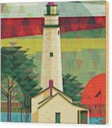 Point Aux Barques-michigan  Wood Print