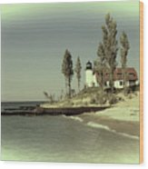 Point Betsie Lighthouse 2 Wood Print