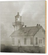 Point Cabrillo Lighthouse California Sepia Wood Print