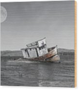 Point Reyes California Shipwreck Wood Print