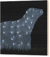 Polar Bear Decoration Wood Print