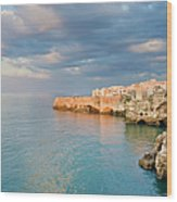 Polignano A Mare On The Adriatic Sea Wood Print