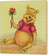 Pooh Bear Wood Print
