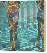 Pool At Las Brisas Wood Print