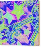 Pop Art Police Wood Print