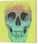Pop Art Skull Wood Print