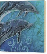 Porpoise Pair - Close Up Wood Print