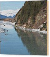 Portage Creek Portage Glacier Highway Alaska Wood Print