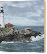Portland Head Light House Wood Print