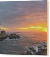 Portland Head Lighthouse Sunshine  Wood Print