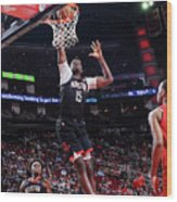 Portland Trail Blazers V Houston Rockets Wood Print