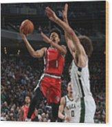 Portland Trail Blazers V Milwaukee Bucks Wood Print