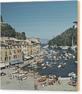 Portofino Harbour Wood Print