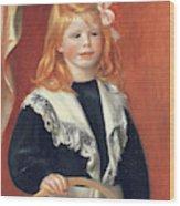 Portrait De Jean Renoir Wood Print