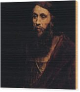 Portrait Of A Man, 1661. Artist Wood Print