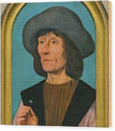 Portrait Of A Man With A Pink Wood Print
