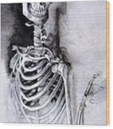 Portrait Of A Skeleton Wood Print